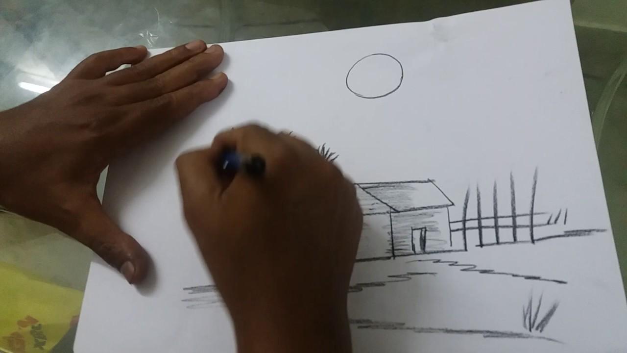 Drawn scenery nirmal Pencil Pencil Handicrafts shading shading