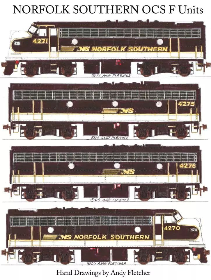 Drawn railroad passenger train Units Drawings Engine Southern images