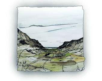 Drawn scenic outstanding ANTRIM Attraction Beauty drawing Antrim