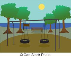 Drawn scenic park playground Park Drawingby  royalty playground