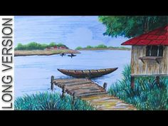 Drawn scenery color A Children Pastel with Draw