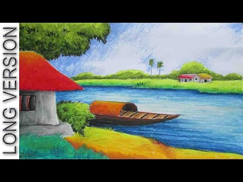 Drawn scenic pastel Drawing Drawing [Long Tutorial Pastel