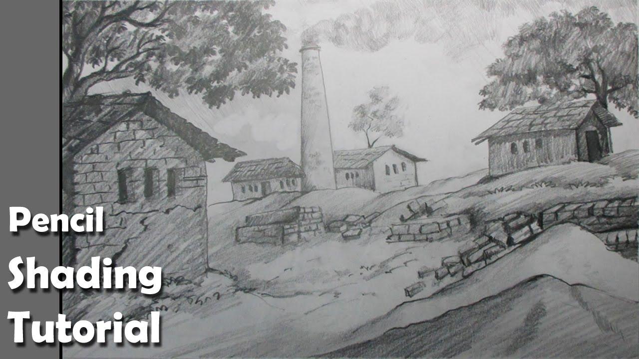 Drawn scenery drawing  Brick How Epi kiln