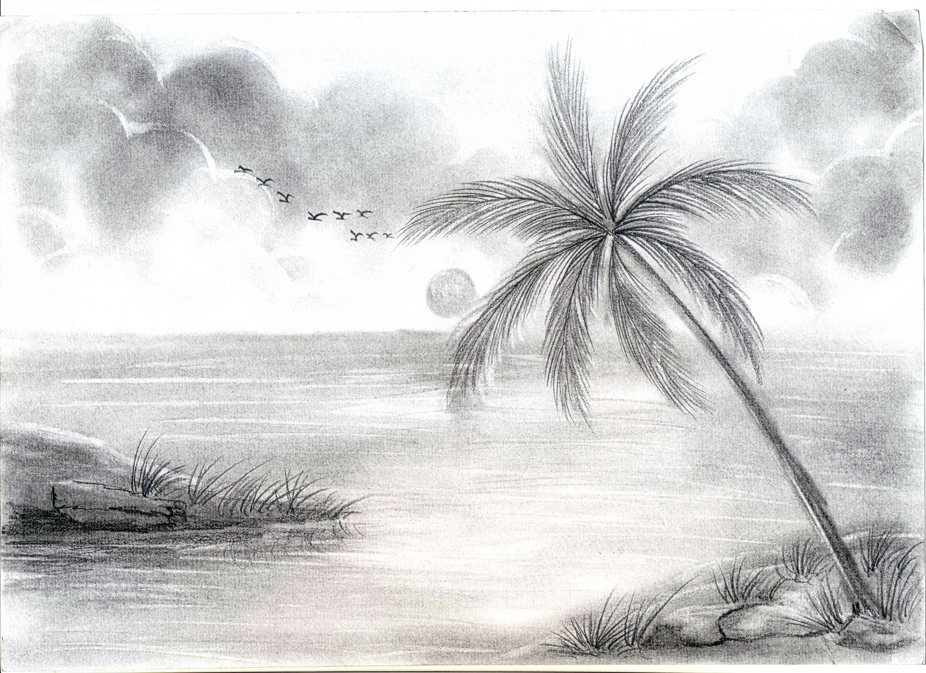 Drawn scenery pencil sketching Beautiful Sketch pencil Pencil Pencil