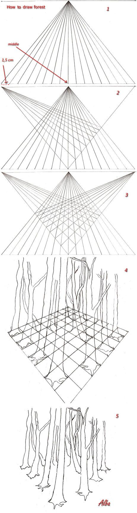 Drawn nature perspective drawing On draw images  how
