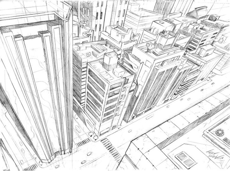Drawn scenic perspective Ideas Point City Pinterest Perspective