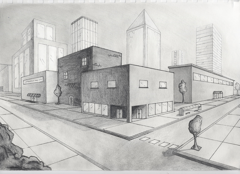 Drawn scenery city  Two city 25+ ideas