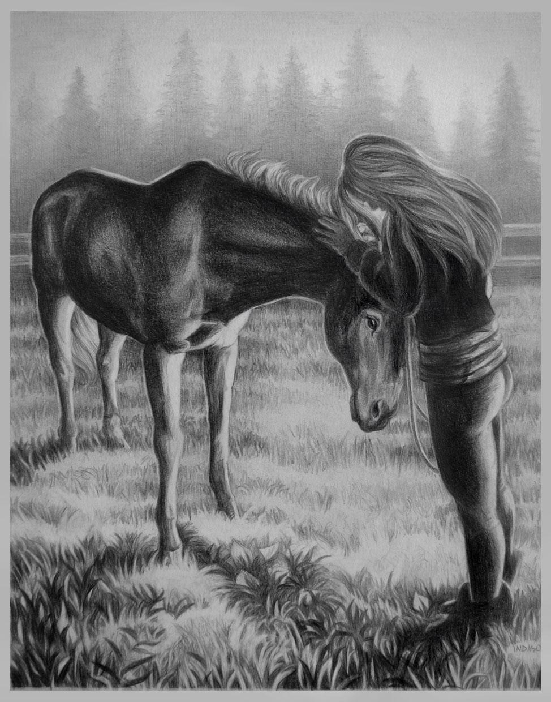 Drawn scenery portrait Sketch WILDLIFE SKETCHES Memory