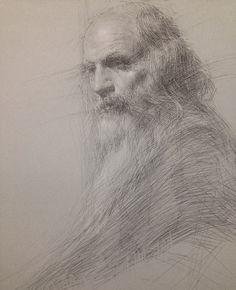 Drawn scenic portrait And Charcoal Art Bilmes Sue