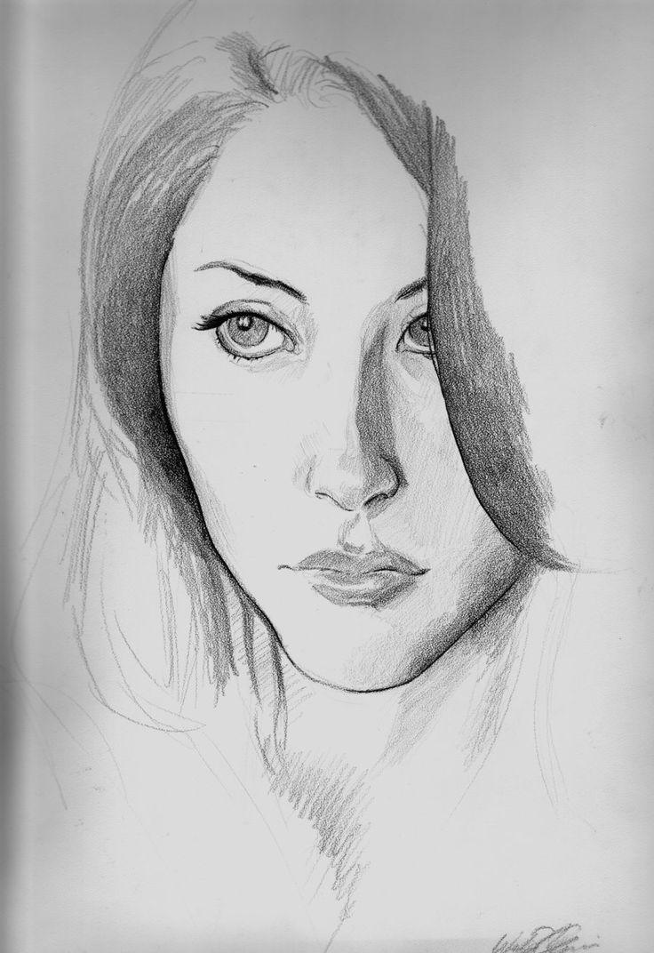 Drawn scenery portrait Drawings Pinterest ideas wax sketches
