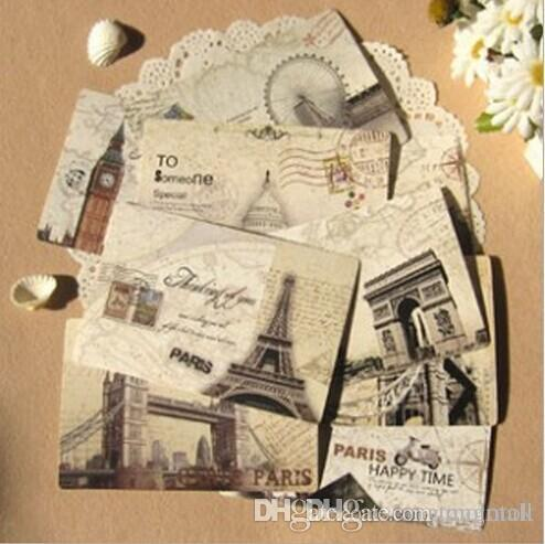 Drawn scenery postcard Paper Greeting Scenery Gift Cards