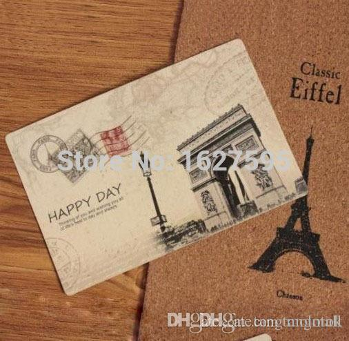 Drawn scenic postcard Card Vintage Gift Paper Premium
