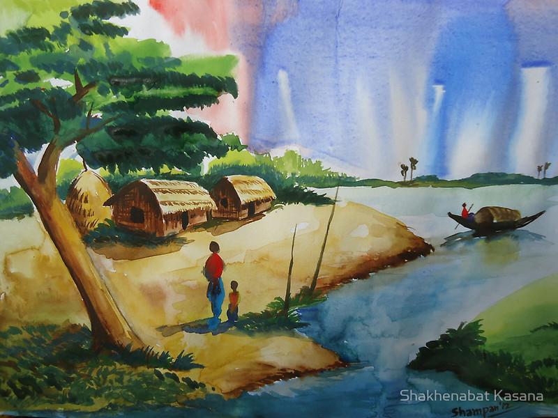 Drawn scenic poster colour Kasana of Posters Bangladesh
