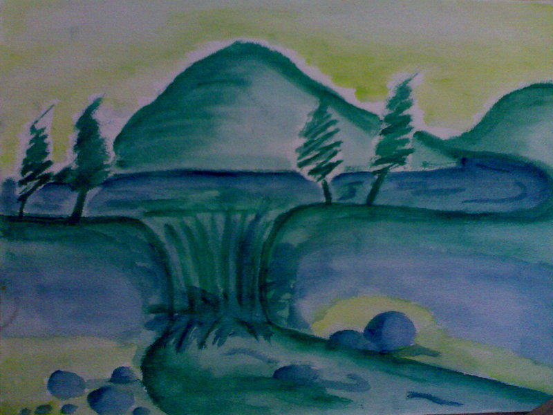 Drawn scenic poster colour Scenery jollie dyoli Color Poster
