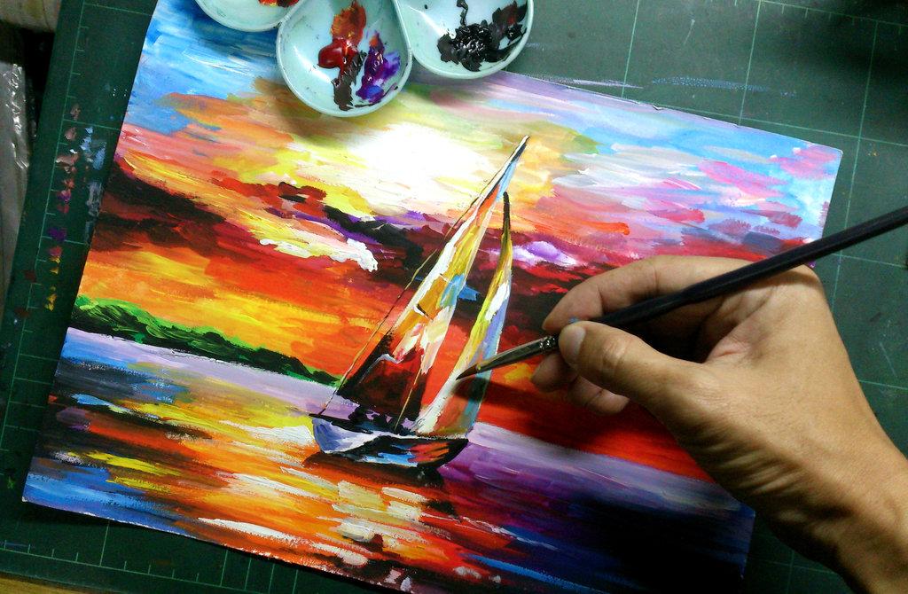 Drawn scenic poster colour Village Image Scenery Photo To