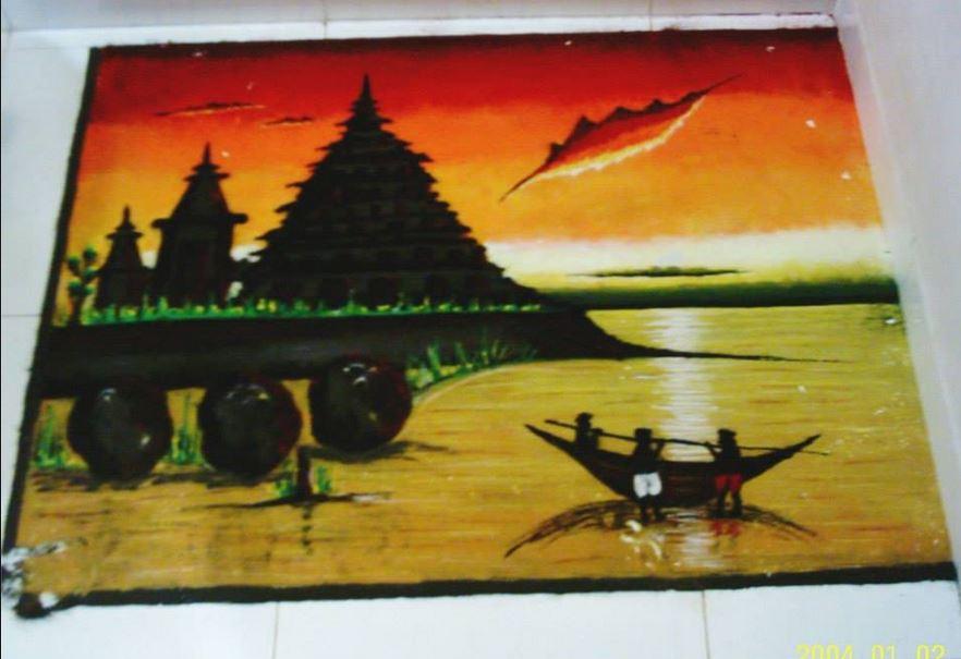 Drawn scenery rangoli Room Rangoli for Rangoli Rangoli
