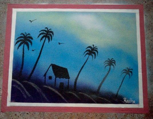 Drawn scenery rangoli Pinterest images Scenery on Rangoli
