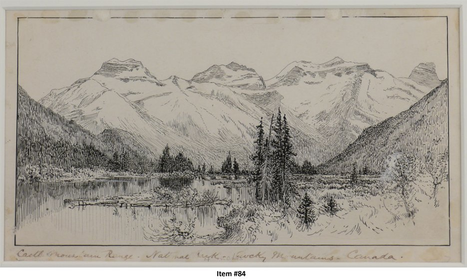 Drawn scenic rare Of The Ink Hotel 1887