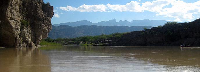 Drawn scenic river Grande Boquillas River Scenic &