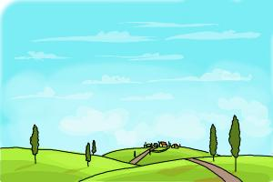 Drawn scenery drawing Village How Scene a to