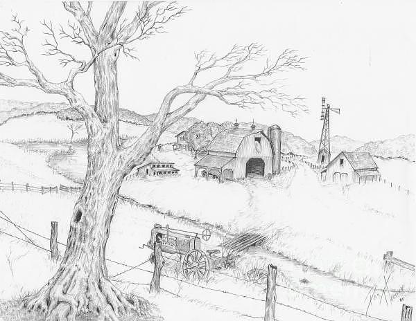 Drawn scenic senery Karthik Karthik Drawing Scenic by