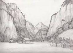 Drawn scenic senery Pencil of Search para de