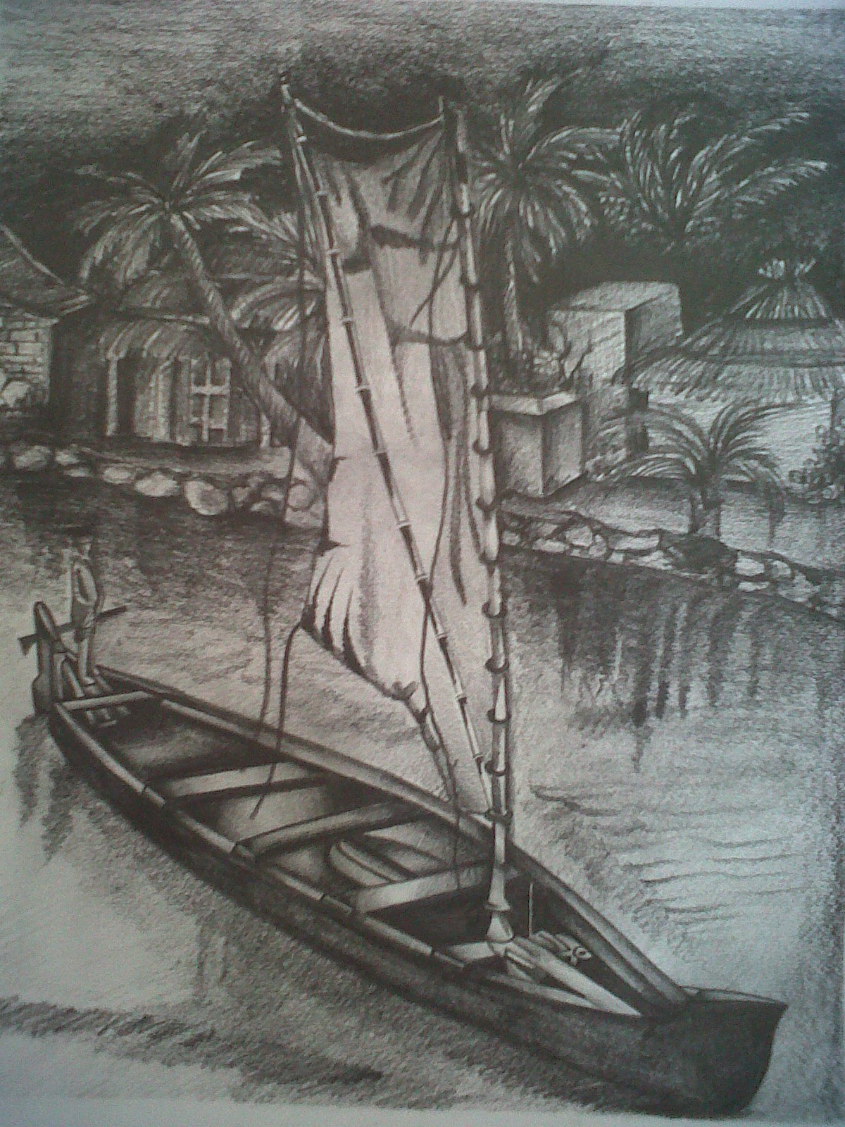 Drawn scenery shading Amour Natural Scenery Pencil Drawing