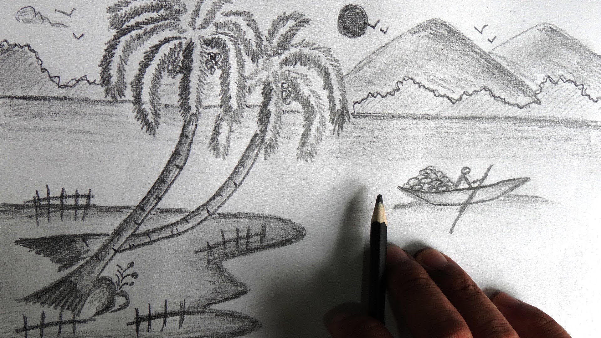 Drawn scenery shading  Images About Of Drawings