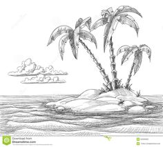 Drawn scenic simple Simple Ocean Bing images Nature