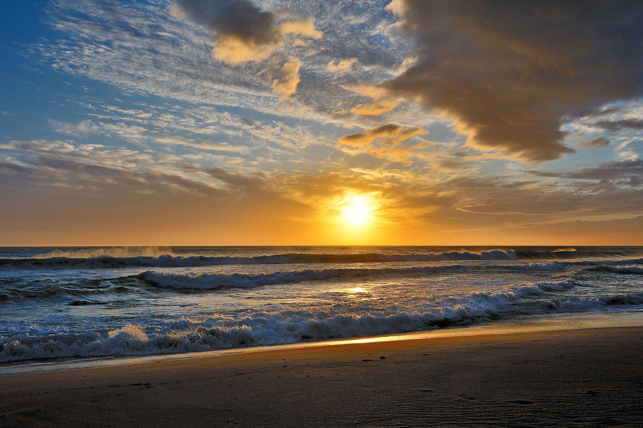 Drawn scenic sunrise Beautiful Beach Sunset Sunrise Beautiful