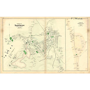 Drawn scenic vintage Sandwich Vintage Map by Kings