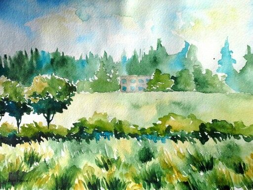 Drawn scenic water colour Scenery Scenery images Pinterest best