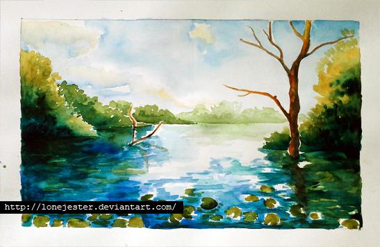 Drawn scenery water colour Watercolor LoneJester LoneJester scenery Watercolor