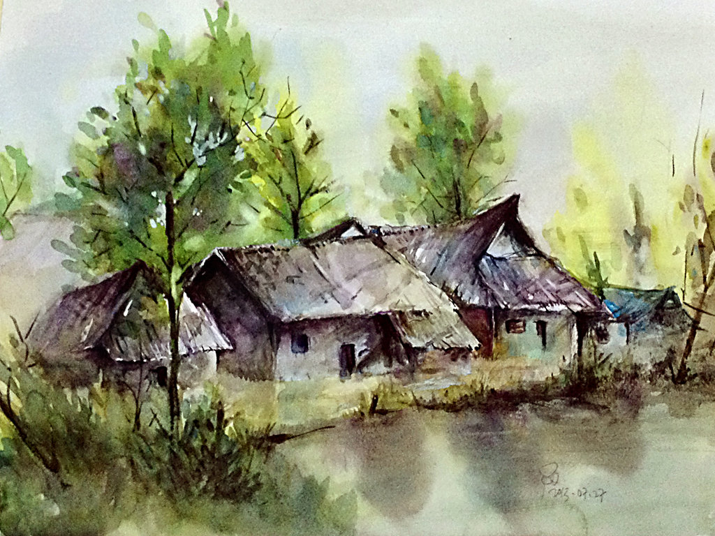 Drawn scenery water colour Scenery young920 young920 watercolor scenery