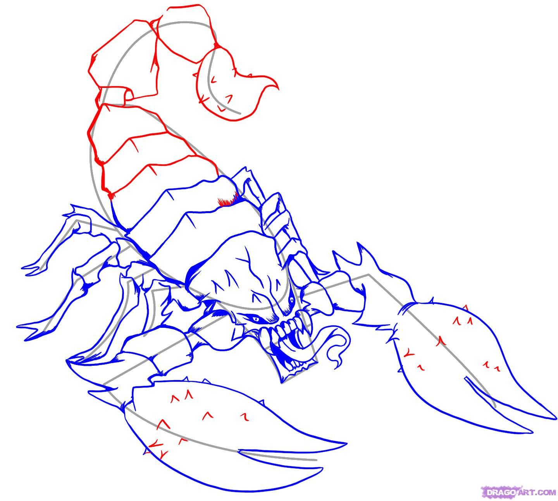 Drawn scorpion anime Draw to Scorpion How Step