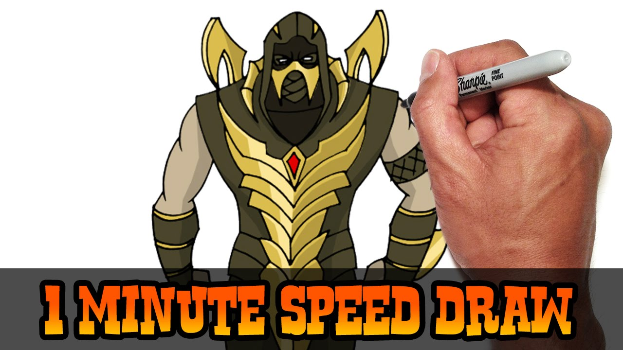 Drawn scorpion cartoon Speed Preview Kombat) YouTube Video