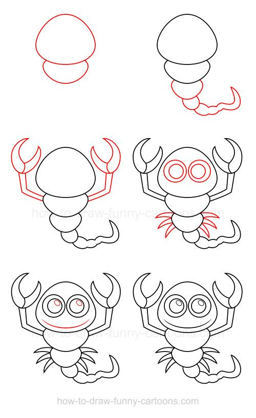 Drawn scorpion easy On scorpion best images a