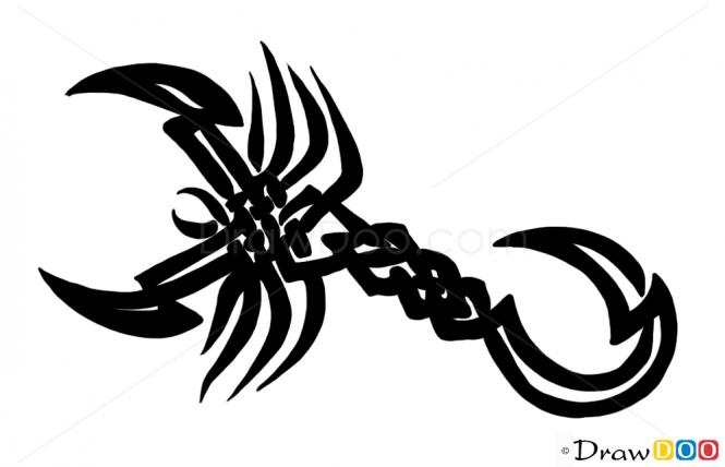 Drawn scorpion graffiti Draw to Scorpion Designs How