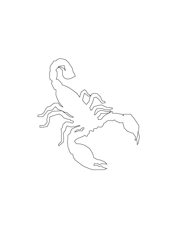 Drawn scorpion outline Scorpion Vector Drawing site another