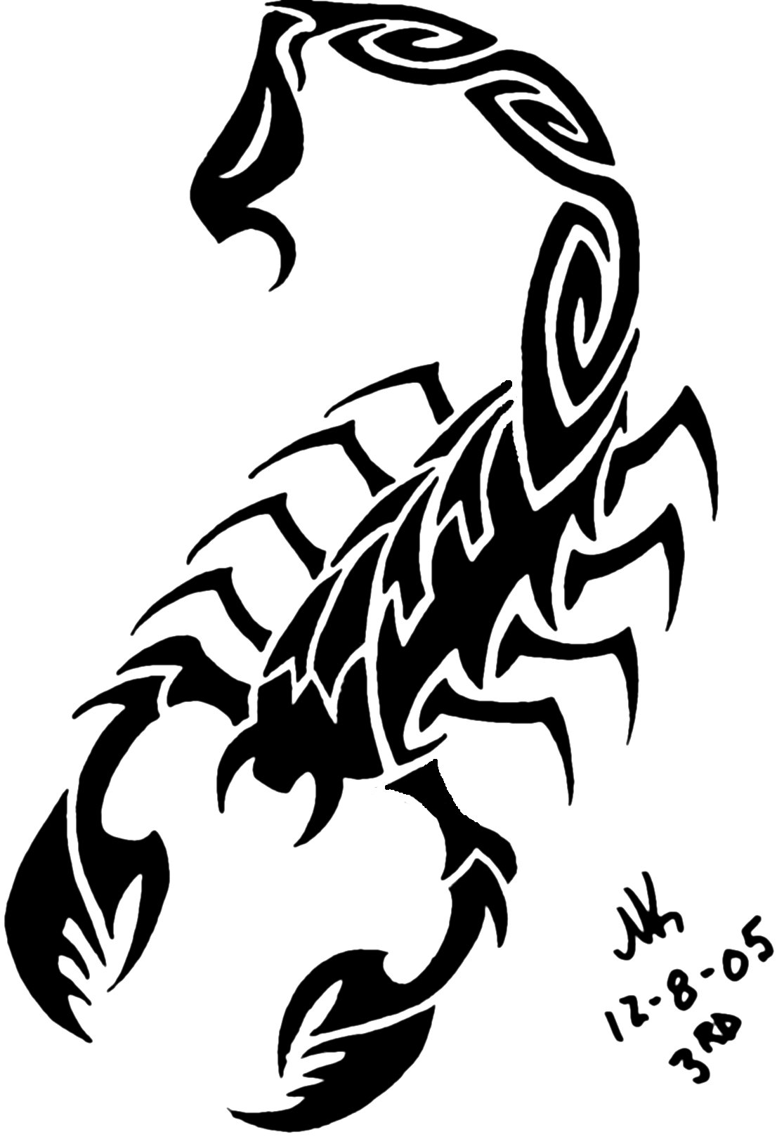 Drawn scorpion pencil drawing Scorpion 4th Drawings Easy by