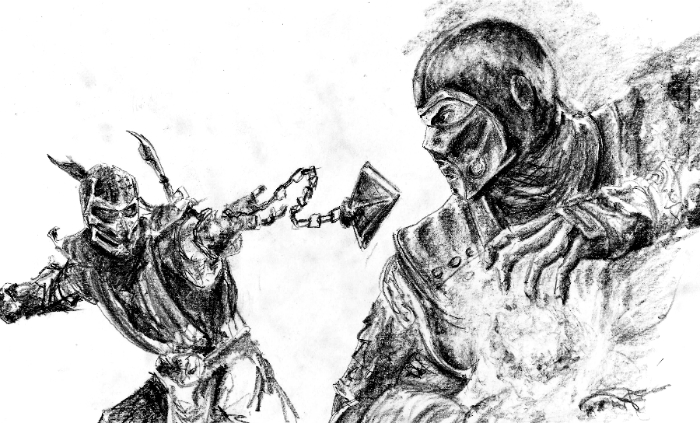 Drawn scorpion sub zero Sub zero Sub How to