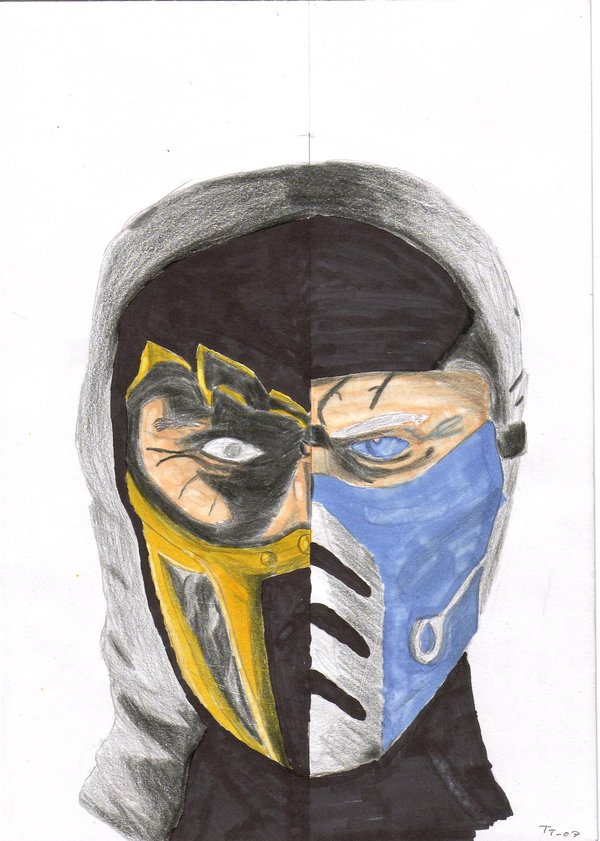 Drawn scorpion sub zero SeSerkku Scorpion DeviantArt Sub and