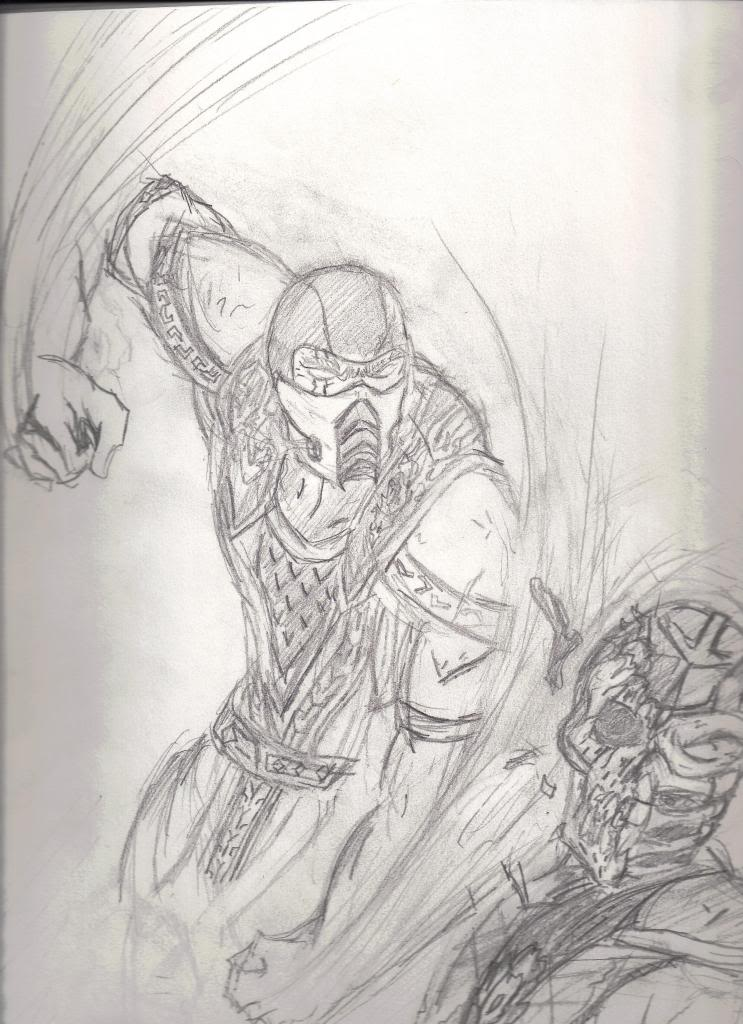 Drawn scorpion sub zero Sketch Sub Vs Scorpion Zero