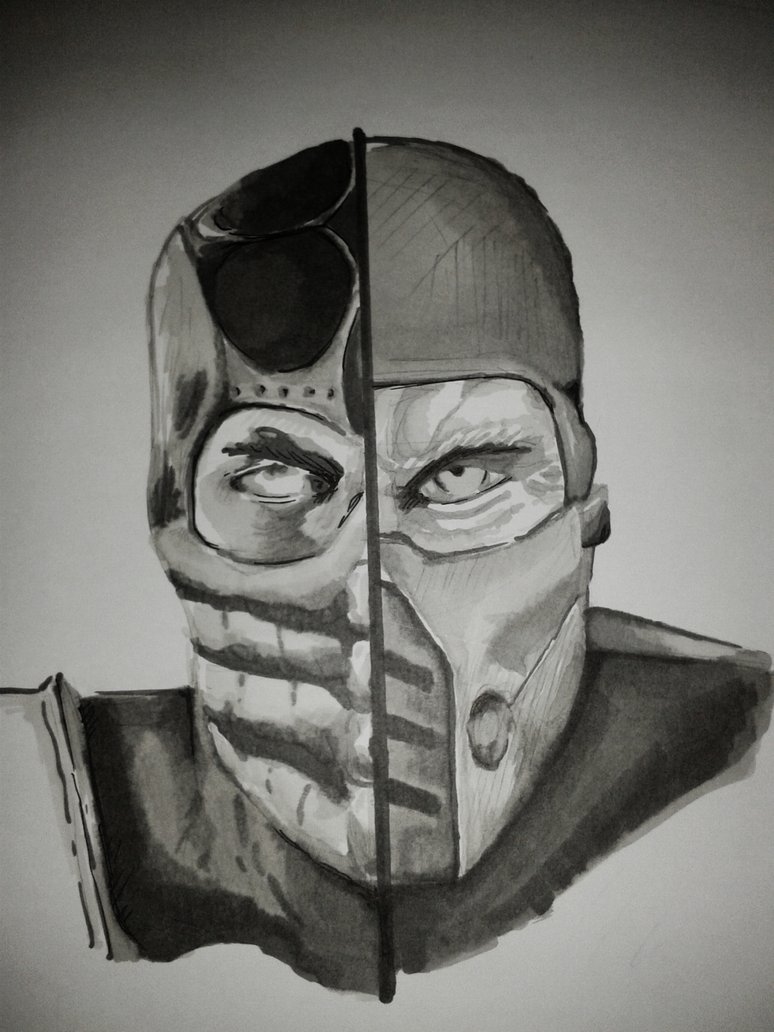Drawn scorpion sub zero Backstabber Scorpion DeviantArt SubZero vs