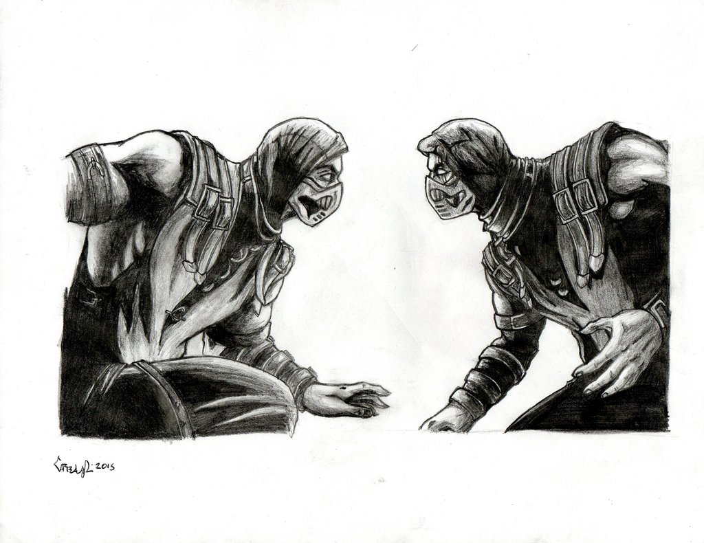 Drawn scorpion sub zero Zero pencil DeviantArt Zero on
