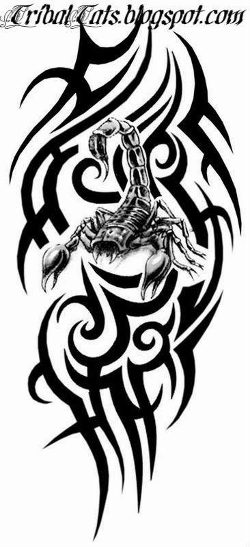 Drawn scorpion tribal art Tattoo Tribal Emperor 25+ Best