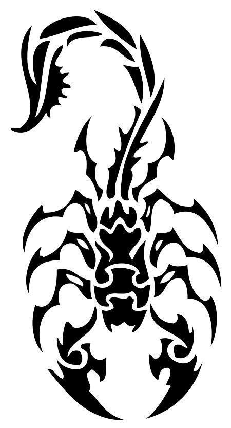 Drawn scorpion tribal art Tattoo tribal tattoo simple Search