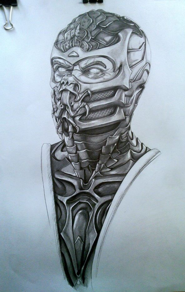 Drawn scorpion two Best mortal Pinterest kombat on
