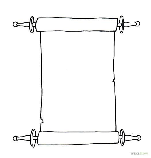 Drawn scroll Paper Scroll Draw and cut