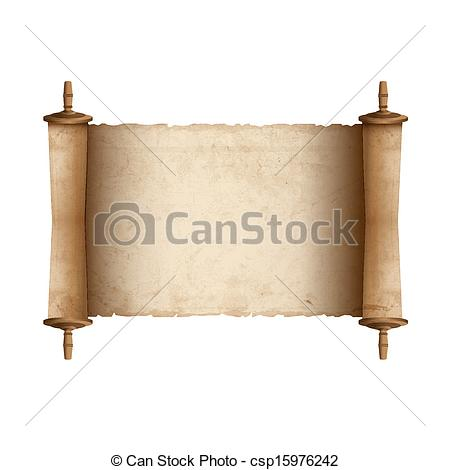 Drawn scroll  of Ancient illustration Vector